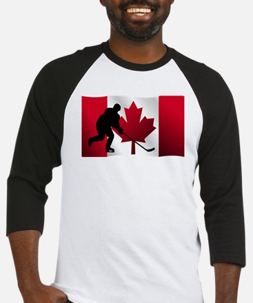 Hockey Canadian Flag Baseball Jersey