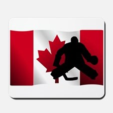 Hockey Goalie Canadian Flag Mousepad
