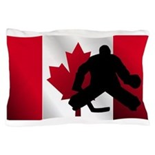 Hockey Goalie Canadian Flag Pillow Case