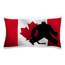Hockey Goalie Canadian Flag Pillow Case