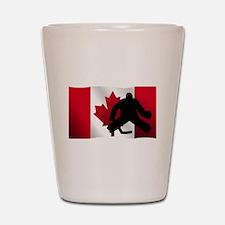 Hockey Goalie Canadian Flag Shot Glass