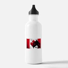 Hockey Goalie Canadian Flag Sports Water Bottle