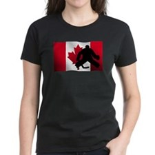Hockey Goalie Canadian Flag T-Shirt