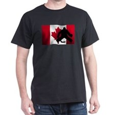 Hockey Goalie Canadian Flag T-Shirt