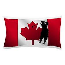 Golf Canadian Flag Pillow Case