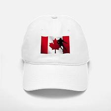 Football Running Back Canadian Flag Baseball Baseball Cap