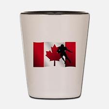 Football Running Back Canadian Flag Shot Glass