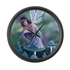 Periwinkle Fairy Large Wall Clock