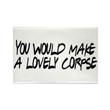 Lovely Corpse Rectangle Magnet