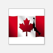 Basketball Dunk Canadian Flag Sticker