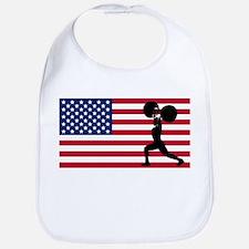 Weightlifting American Flag Bib