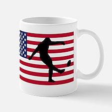 Rugby Kick American Flag Mugs