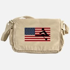 Rowing American Flag Messenger Bag
