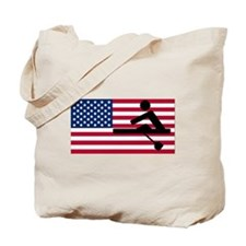 Rowing American Flag Tote Bag