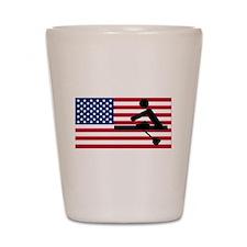 Rowing American Flag Shot Glass