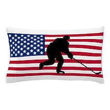 Hockey American Flag Pillow Case