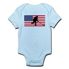 Hockey American Flag Body Suit