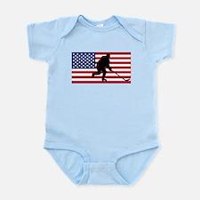 Hockey American Flag Body Suit