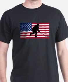 Hockey American Flag T-Shirt