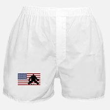 Hockey Goalie American Flag Boxer Shorts