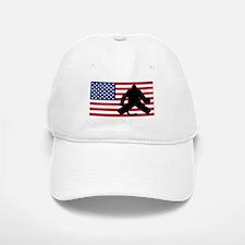 Hockey Goalie American Flag Baseball Baseball Cap
