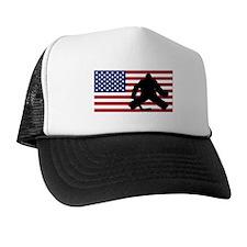 Hockey Goalie American Flag Hat