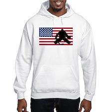 Hockey Goalie American Flag Jumper Hoody