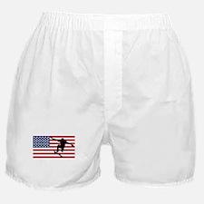 Skateboarding American Flag Boxer Shorts