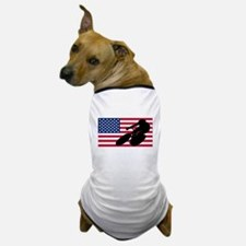 Cycling American Flag Dog T-Shirt