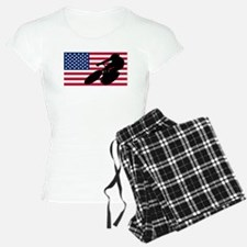 Cycling American Flag pajamas