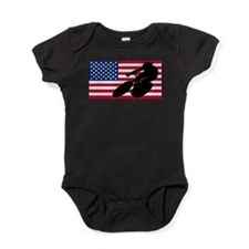 Cycling American Flag Baby Bodysuit