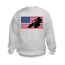Cycling American Flag Sweatshirt