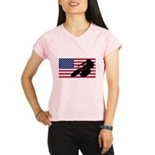 Cycling American Flag Performance Dry T-Shirt