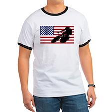 Cycling American Flag T-Shirt