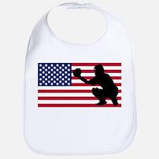 Baseball Catcher American Flag Bib