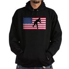 Baseball Pitcher American Flag Hoody