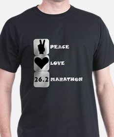 Peace Love Marathon T-Shirt