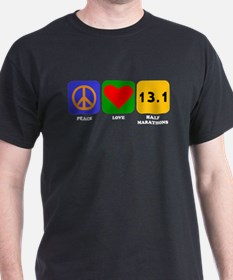 Peace Love Half Marathons T-Shirt