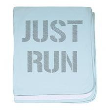 Just Run baby blanket
