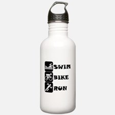 Swim Bike Run Sports Water Bottle
