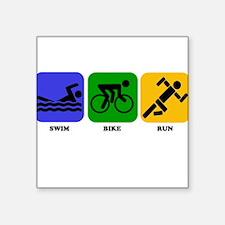 Swim Bike Run Sticker
