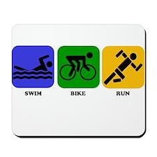 Swim Bike Run Mousepad