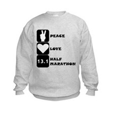 Peace Love Half Marathon Sweatshirt