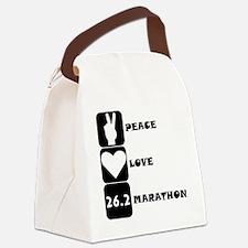Peace Love Marathon Canvas Lunch Bag