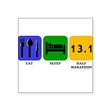 Eat Sleep Half Marathon Sticker