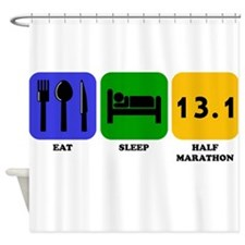 Eat Sleep Half Marathon Shower Curtain