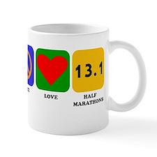 Peace Love Half Marathons Mugs