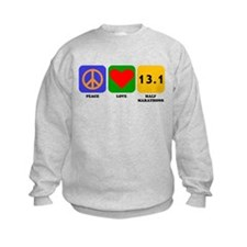 Peace Love Half Marathons Sweatshirt
