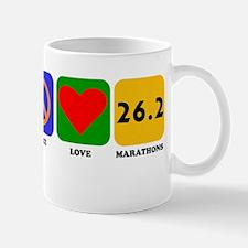 Peace Love Marathons Mugs