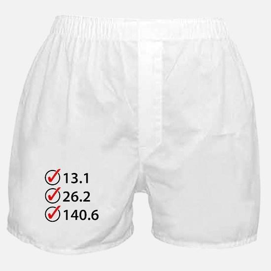 Marathon Triathlon Checklist Boxer Shorts